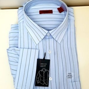 Men's Fitted 16½ 34/35 Dress Shirt, French Cuffs